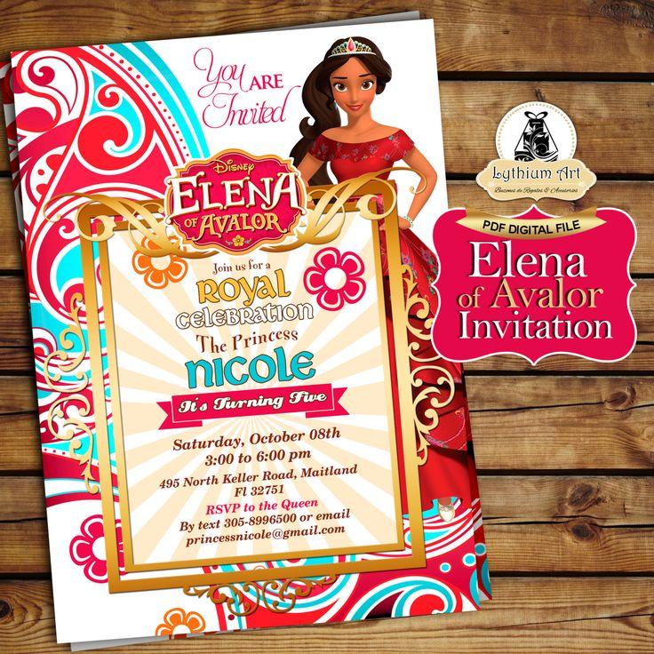Elena of Avalor Invitation - Elena of Avalor Birthday Party - Elena de Avalor…