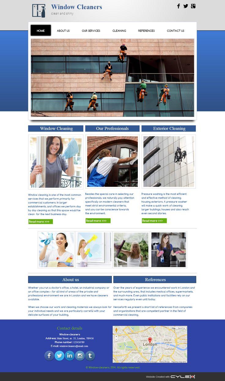 Window cleaners | MyCylex Website Templates | Pinterest