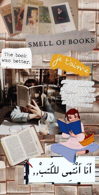 Books Aesthetic Book Wallpaper Reading Wallpaper Bookworm Wallpaper Anime book lover wallpaper