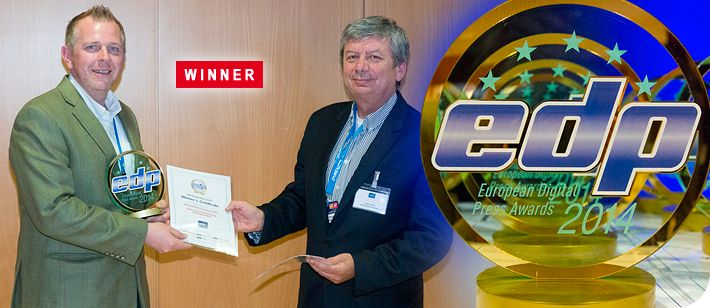 """Motioncutter® is delighted to announce that it has won the European Digital Press associations """"Best Commercial Printing Finishing System 2014""""."""