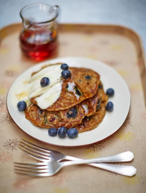 Vegan blueberry pancakes. Light, fluffy and delicious. A great alternative to classic breakfast pancakes, these vegan versions are the ultimate way to kick off the weekend
