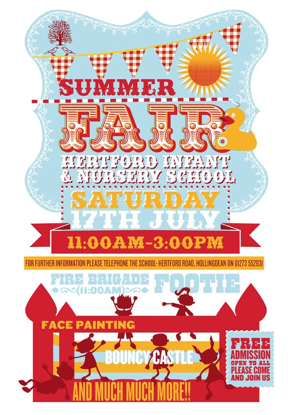 Gorgeous Hertford Summer Fair poster.