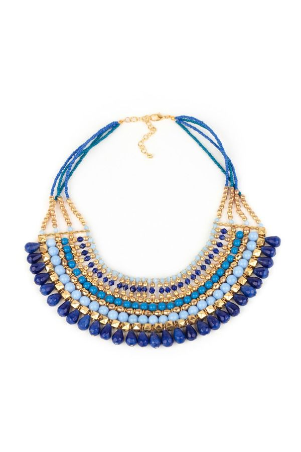 Tribal Beaded Statement Necklace