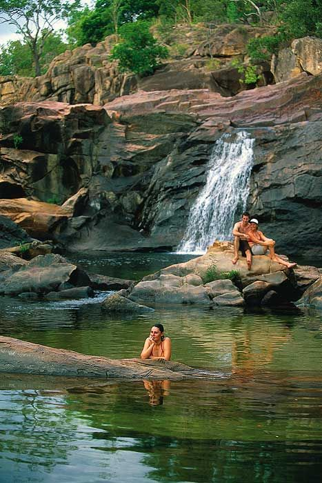 I swam in this pool - it was heaven! Its well worth the half hour hike to get there - south of Kakadu