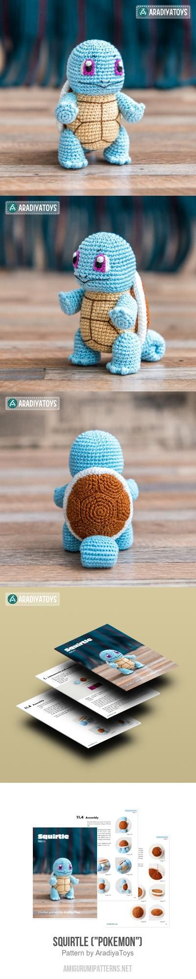 "Squirtle (""Pokemon"") Amigurumi Pattern"