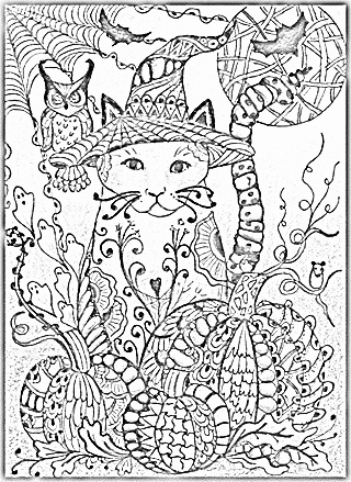 cat zentangle coloring page - 1000 images about coloring furry friends on pinterest