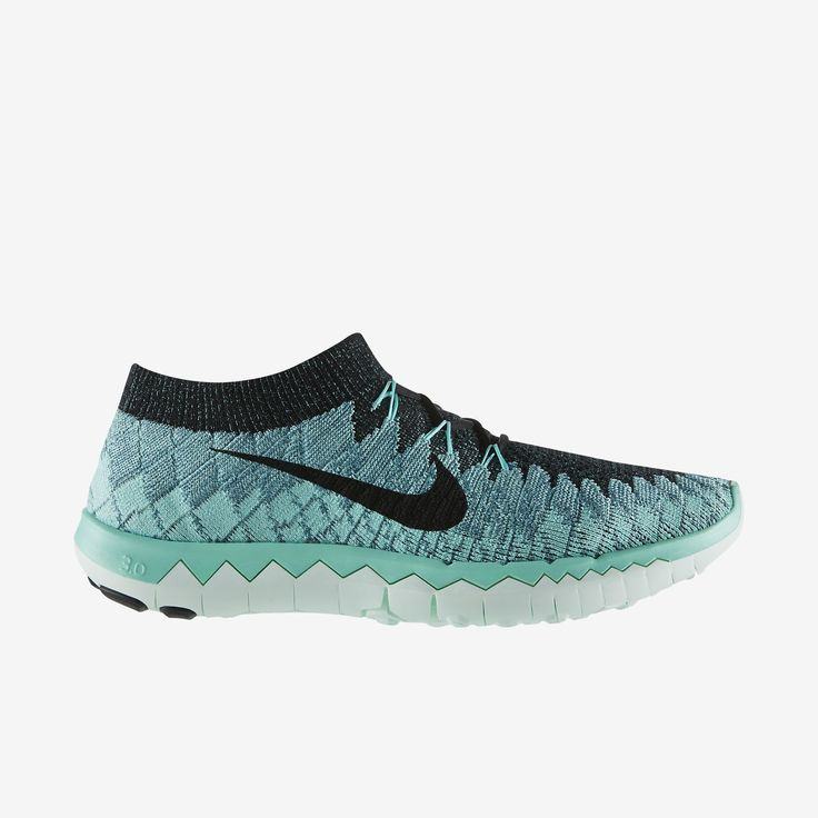 nike free 3.0 flyknit womens running shoe green/turquoise bead