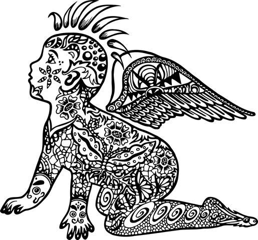 Henna Tattoo Für Jungs: Baby, Tätowierung, Punk-Design