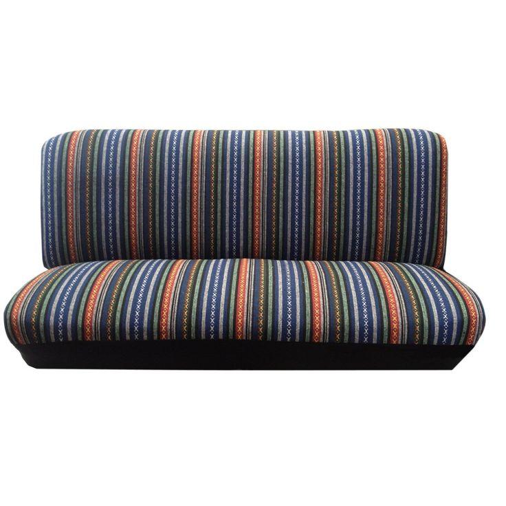Unique Saddle Blanket Bench Seat Cover St&ard Fit Colorful Stripes - Mazda 6 (Color), Blue