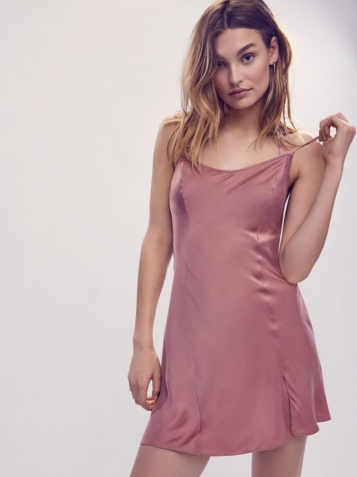 Foxy Silk Slip | Slinky silk slip with front seaming detail and adjustable straps for easy fit.