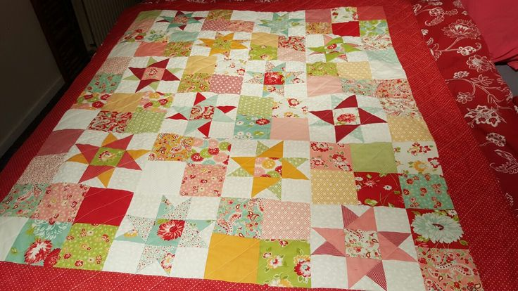 Quilt a group of friends made for a terminally ill woman. From the first mention to completed and delivered project in a week.