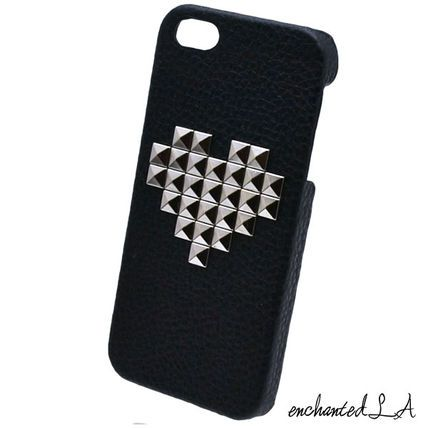 HEART STUDDED LEATHER CASE