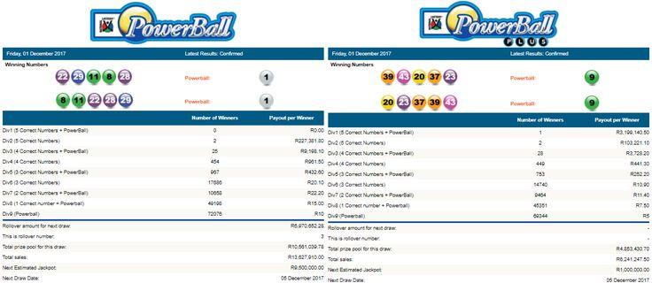 Latest #PowerballResults & #PowerballPlusResults South Africa | 01 December 2017  https://www.playcasino.co.za/latest-south-african-powerball-results.html