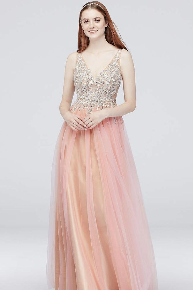 aea57c865a Searching for a tulle prom dress for your big night  Choose from David s  Bridal selection of tulle prom dresses available in short and long lengths.