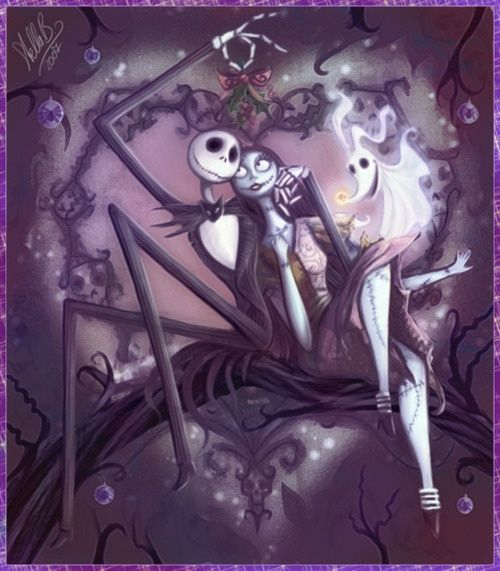 this Nightmare before Christmas tattoo would be so beautiful as a back piece