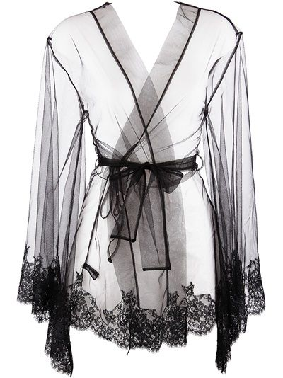 I.D.Sarrieri - lace trim dressing gown 3