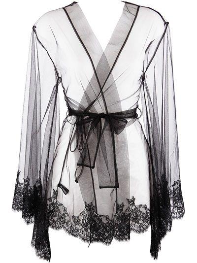 I.D.Sarrieri Lace Trim Dressing Gown