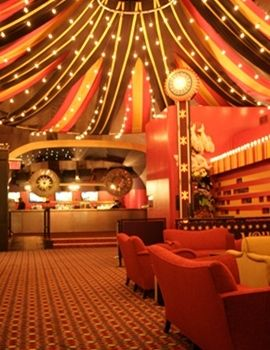Halloween Party Decor: This indoor carnival tent theme is ideal for any event.  We're trying to figure out if we can pull this off ourselves!  Amazing.