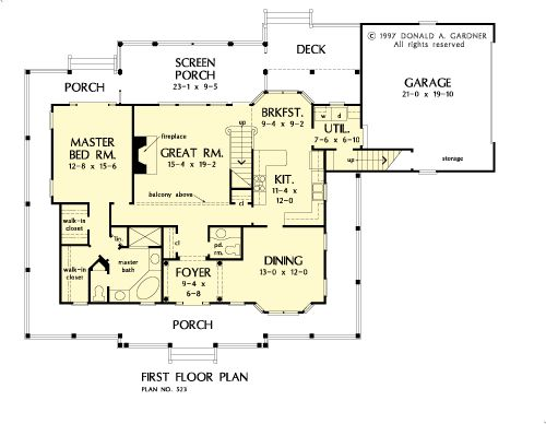 The cottonwood house plans first floor plan house plans for Cottonwood designs