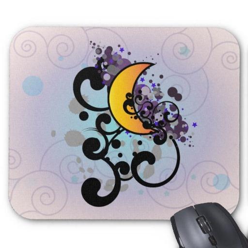 Night Moon Mousepads