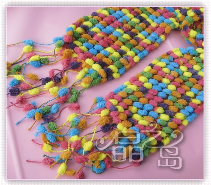 Crochet Scarf Pattern Using Pom Pom Yarn : 1000+ images about Crochet on Pinterest Pom poms, Yarns ...