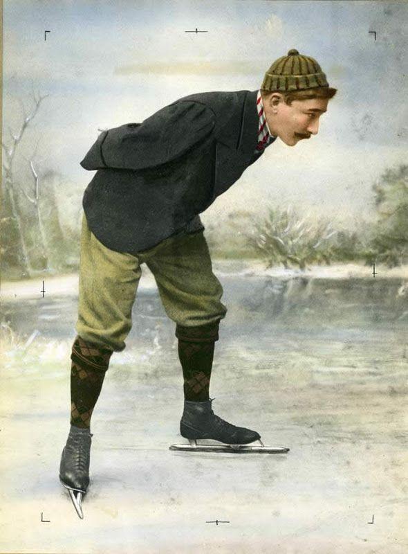 Il pattinatore olandese Jaap Eden (1873-1925). 1890-1900 (www.cracktwo.com)