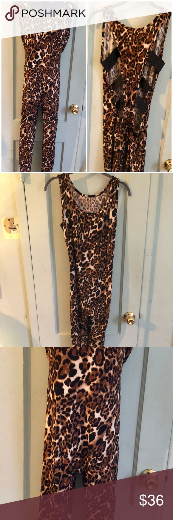 Picky Boo Plus Size Animal Print Jumpsuit 2/3XL Very sexy plus sized animal print jumpsuit. Size 2XL/3XL picky boo Pants Jumpsuits & Rompers