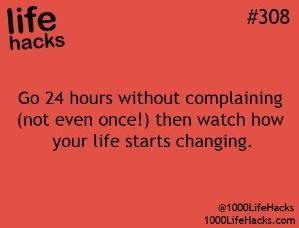 This isn't a hack...just something we should all do every day!