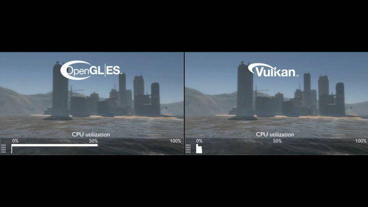 First comparison of Vulkan API vs OpenGL ES API on ARM