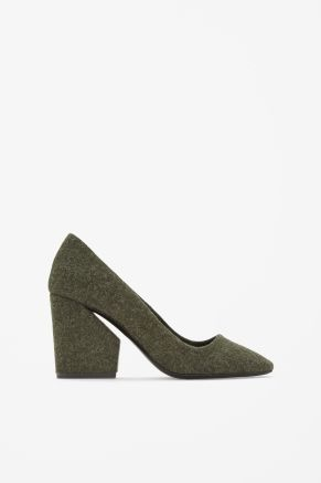 Cut-out heel shoes