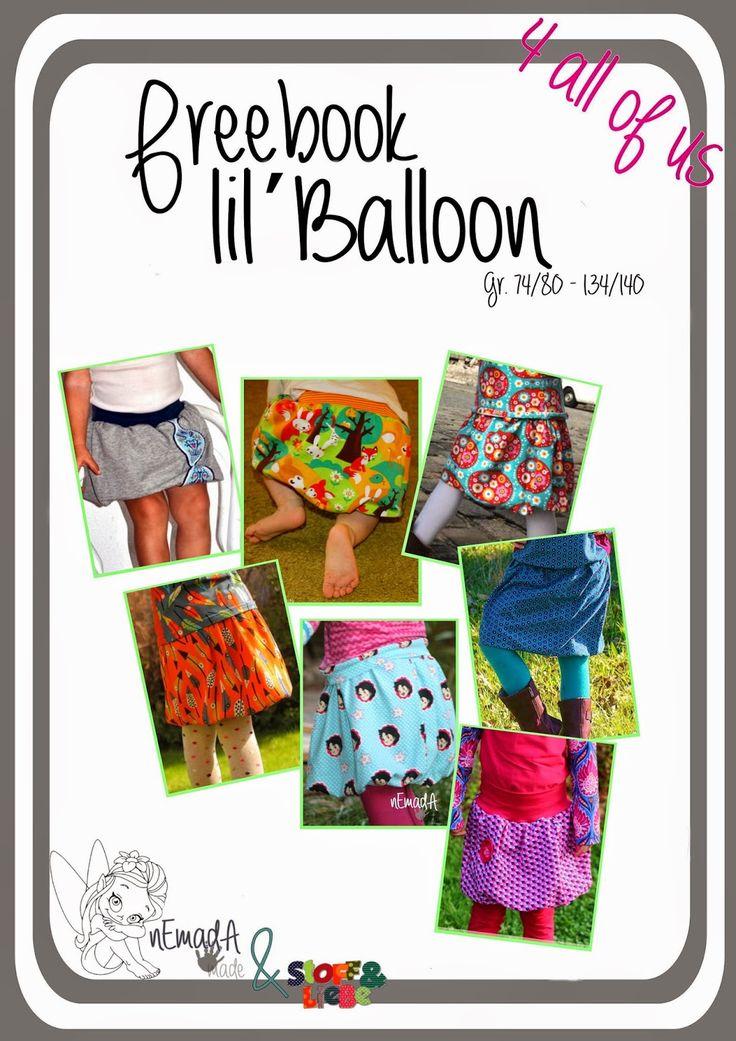 Freebook Ballonrock für Mädchen nähen in Größe 74 - 140