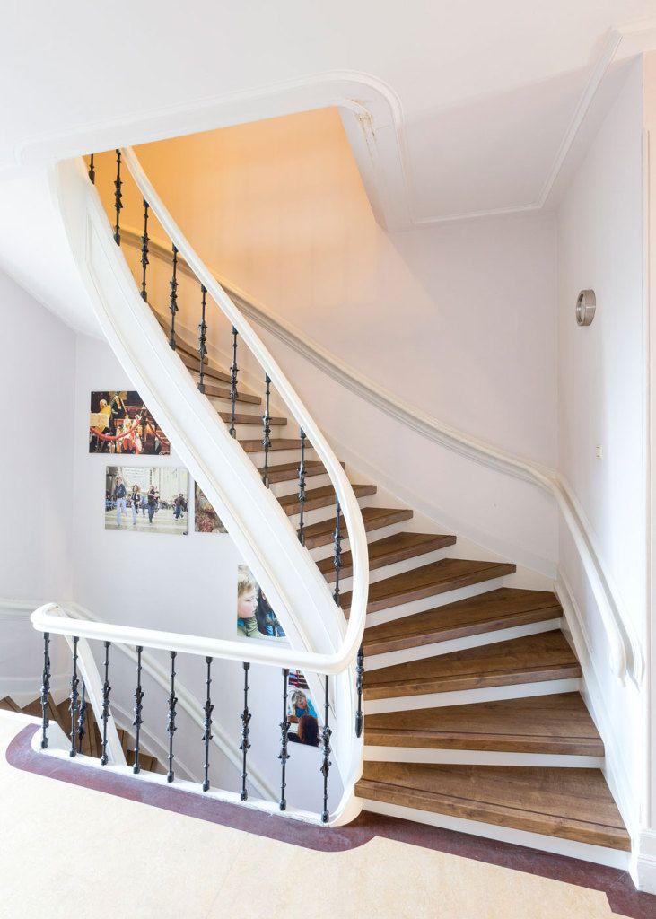 21 beste afbeeldingen over traprenovatie op pinterest for Renovatie houten trap
