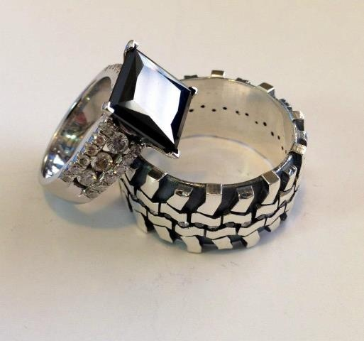 Mud Bogger Mens Band Wit Black Engagement Ring Love This But A