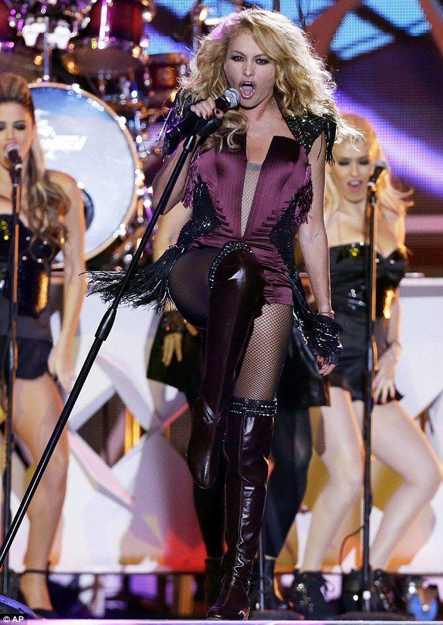 Paulina Rubio performed at the 2013 Billboard Latin Music Awards