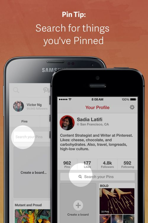 Remember that great idea you Pinned a while back and always meant to try? When you're on the go, here's an easier way to find things you've Pinned.
