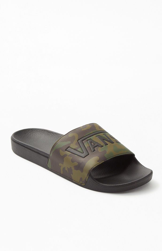 Vans Mens Camo Slide-On Slide Sandals