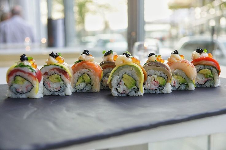 From the Dungeness crab, Northern Divine Caviar and sockeye, to our fresh wasabi and local soy, we have adopted ocean-friendly and responsible harvesting practices.  Taste the rainbow with this roll, showcasing the best of the Pacific Northwest!