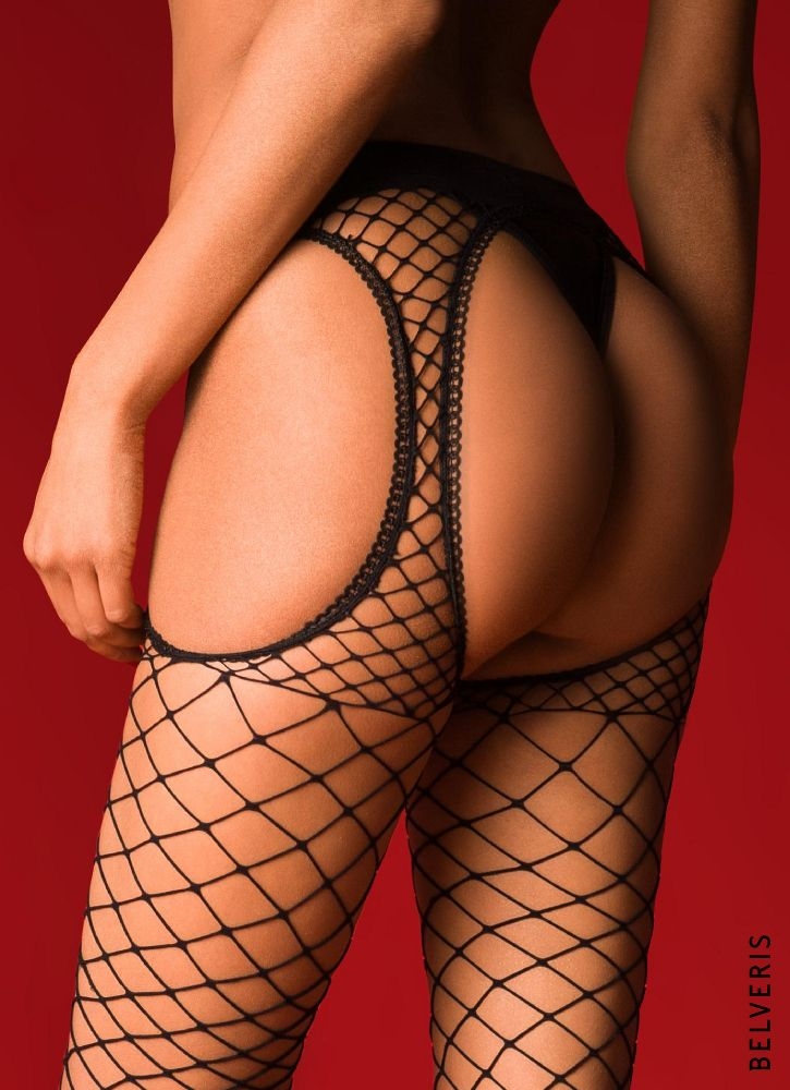 Sexy Netz Strapsstrumpfhose von BELVERIS.
