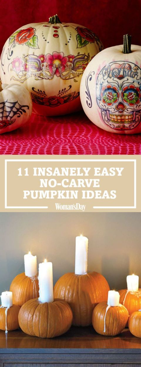 25 Insanely Easy No Carve Pumpkin Ideas 1099