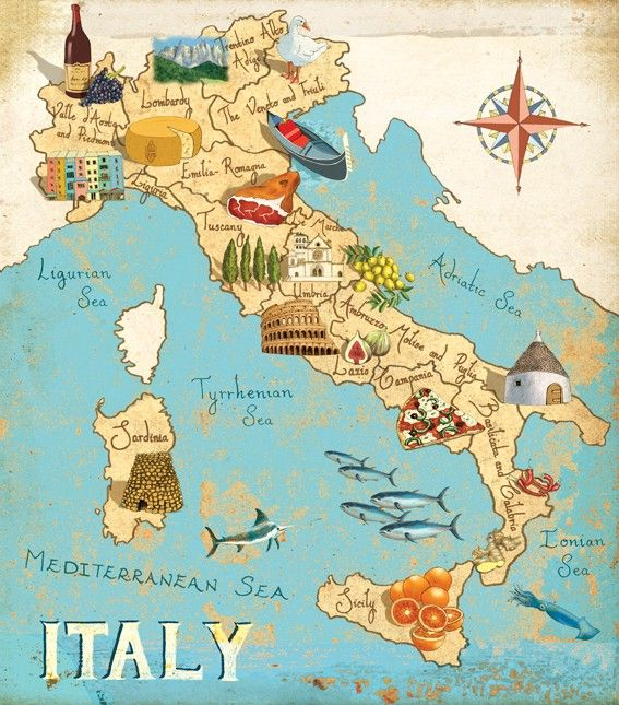 I have seen my illustrated map of Italy several times on Pinterest so I thought I'd pin it myself so people were aware of where it came from!