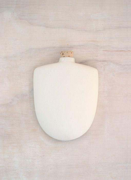 Porcelain Hip Flask // Taus Ceramic