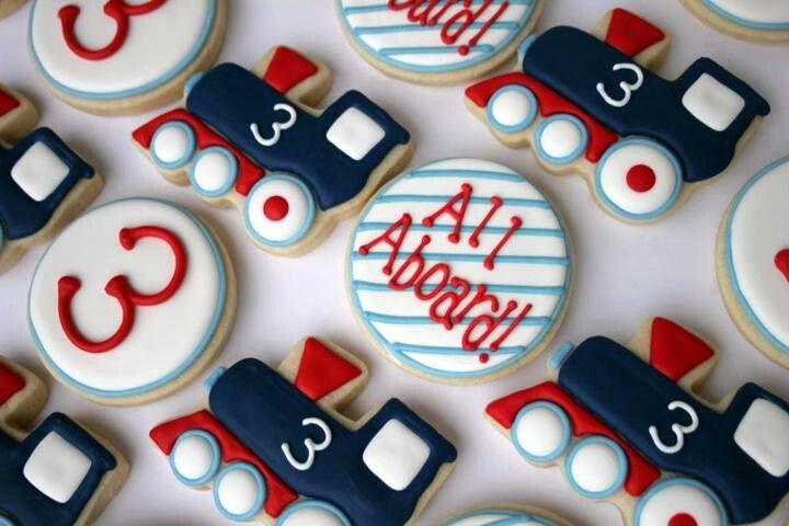 Ideas for Train Cookies #trains #traintheme