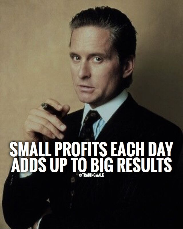 Small Profits Each Day Adds Up To Big Results Motivational