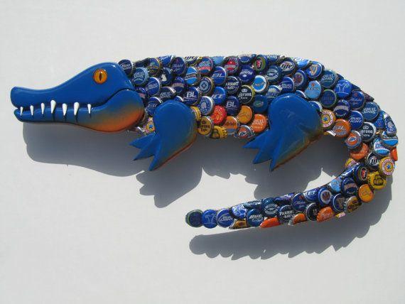 Université de la Floride (couleurs) Gator Bottlecap Alligator (couleurs UF Gator)