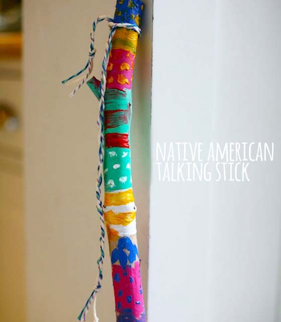 Native American Talking Stick Art Project, we could make this during fantasy week and then use it later too