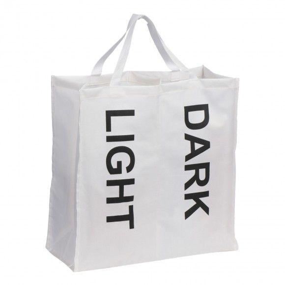 White/Black Writing Laundry Bag | BrandAlley
