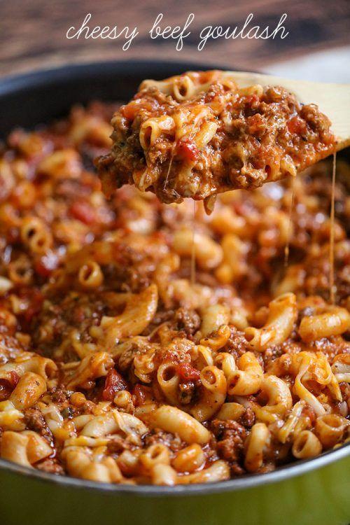 Cheesy Beef Goulash Recipe » BudgetMeals.info