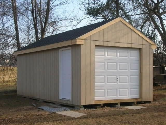 Building Plans And Blueprints 42130 12x24 Motorcycle Garage Shed