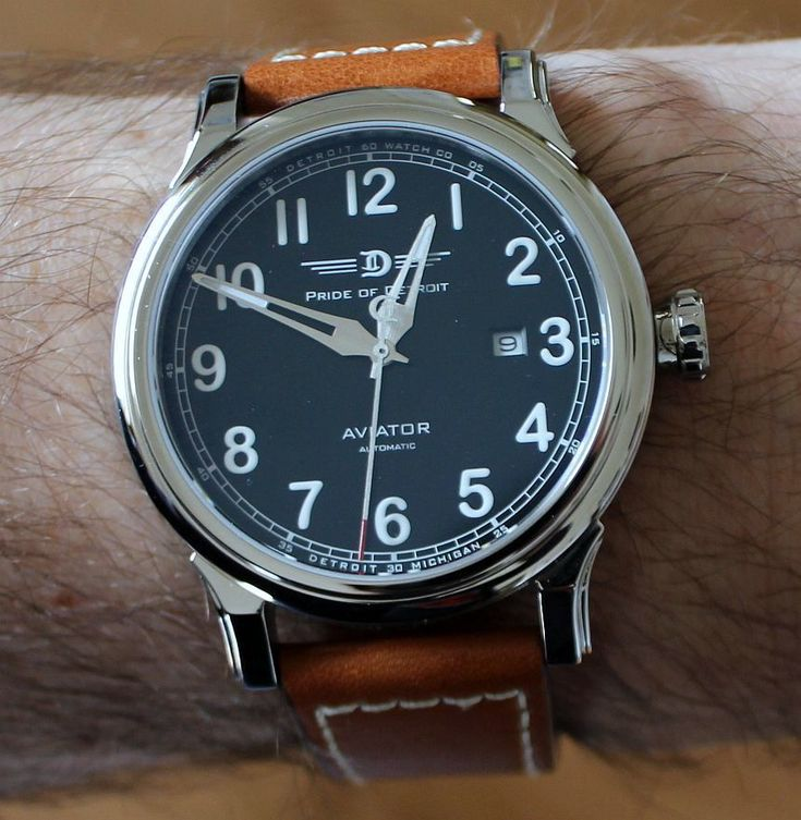 """Detroit Watch Company Pride Of Detroit Aviator Watch Review - by Patrick Kansa - see the full review and hands-on pictures on aBlogtoWatch.com """"My old hometown of Detroit has definitely been in the watchmaking news as of late. Of course, when you think Detroit and watches, you are probably thinking of the one that borrowed their name from a shoe polish company. While they are certainly the king of the Detroit watch hill, they are not the only ones in town. Today, we will run through a…"""