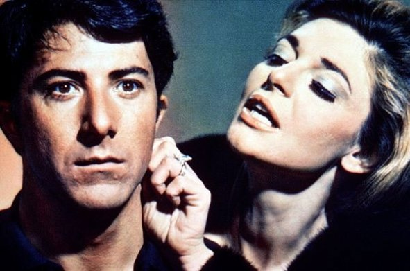 dustin hoffman and anne bancroft • the graduate